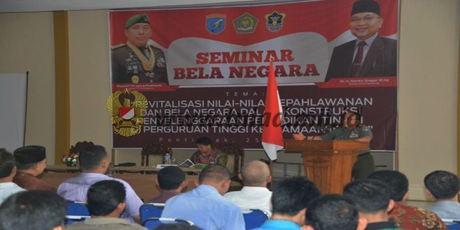 Pangdam XII/Tpr Menjadi Nara Sumber Seminar Bela Negara