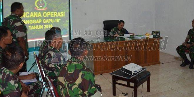 Kodim 0415/Batanghari Latihan Gladi Posko 1 Tahun 2016