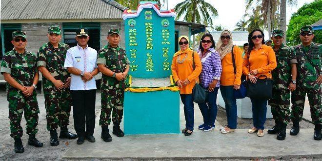 Danrem 033/Wira Didampingi Bupati Lingga, Alias Wello Mengunjungi Pulau Berhala