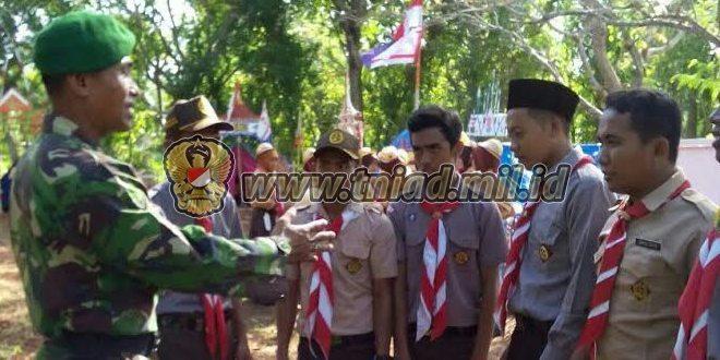 Koramil 0827/20 Sapudi Tumbuhkan Rasa Patriotisme, Nasionalisme dan Bela Negara Dengan Giat Pramuka
