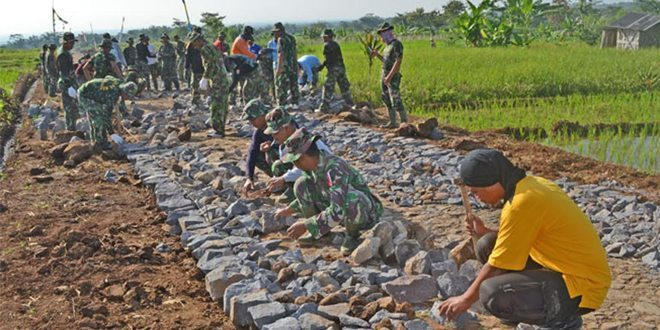 Kegiatan TNI Manunggal Membangun Desa (TMMD) ke 96 tahun 2016 Sudah Mulai Menampakan Hasil