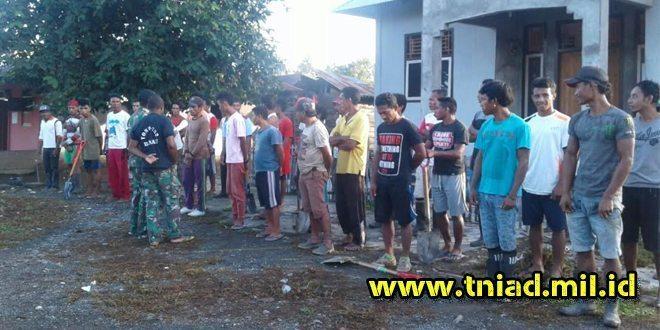 Satgas TMMD 96 Kebut Renovasi Masjid Desa Rawa Mangun