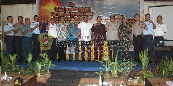 Dandim 1708/BN Menghadiri Rakernis Badan Penanggulangan Bencana Daerah (BPBD) Se Provinsi Papua