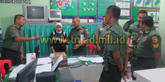 Kunjungan Tim Wasbin Doktrin Kodiklat TNI AD Di Kodim Lamongan