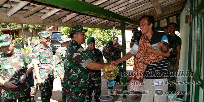 Kunjungan Kerja Tim Wasev Mabes TNI di Lokasi TMMD ke 96 di Desa manjung Kec. Panekan Kab. Magetan
