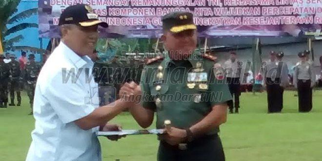 Pangdam I/BB Tutup Tmmd Di Wilayah Kodim 0307/Tanah Datar