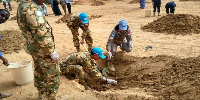 Prajurit TNI Hijaukan Lahan Tandus di Darfur Barat