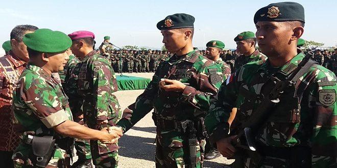 Satgas Pamtas RI-RDTL Yonif Raider 321/GT Kostrad tiba di Kupang