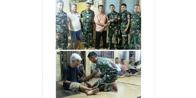 TNI Obati Warga, Kades di Perbatasan Serahkan Senpi