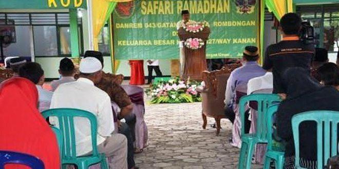 Danrem 043/Gatam Safari Ramadhan Di Makodim 0427/Way Kanan