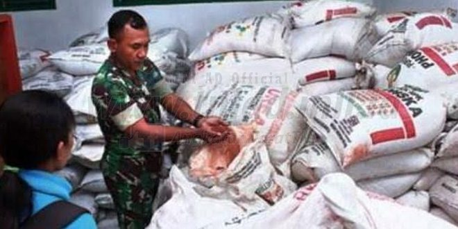 Kodim 0421/Lampung Selatan Gagalkan Pengiriman Pupuk Palsu