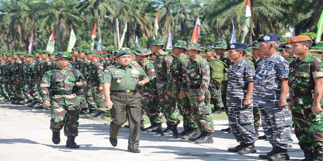 TNI Manunggal Membangun Desa ke-96 Kodim 0204/Ds Korem 022/Pt Ditutup oleh Pangkostrad