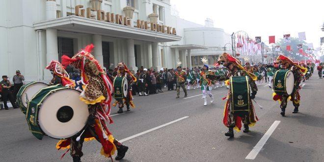 Drumband Canka Panorama Peringatan Lahirnya Pancasila
