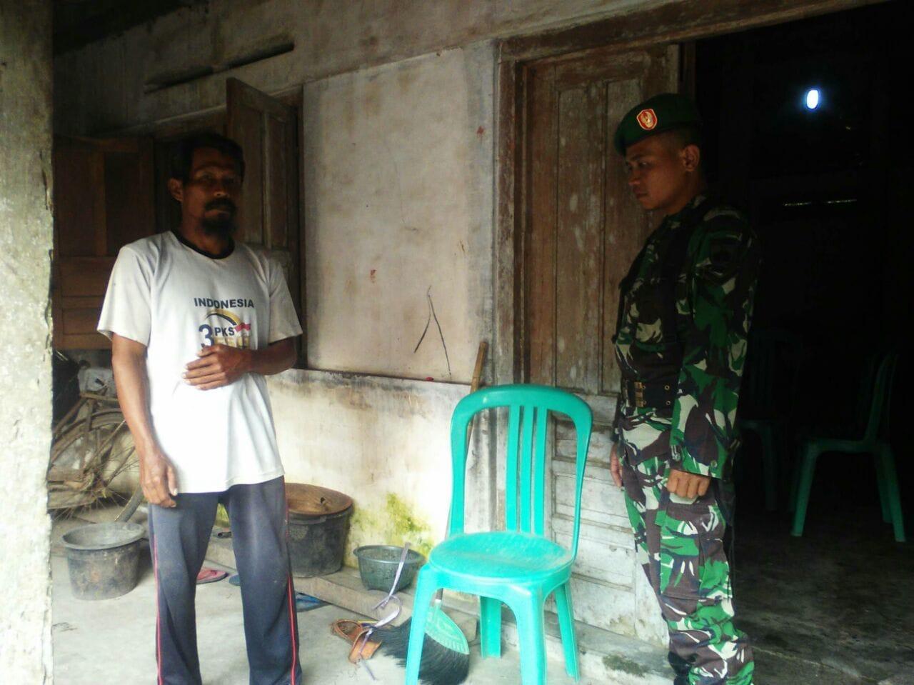 Personel Kodim Sleman Tinjau RTLH Keluarga Veteran