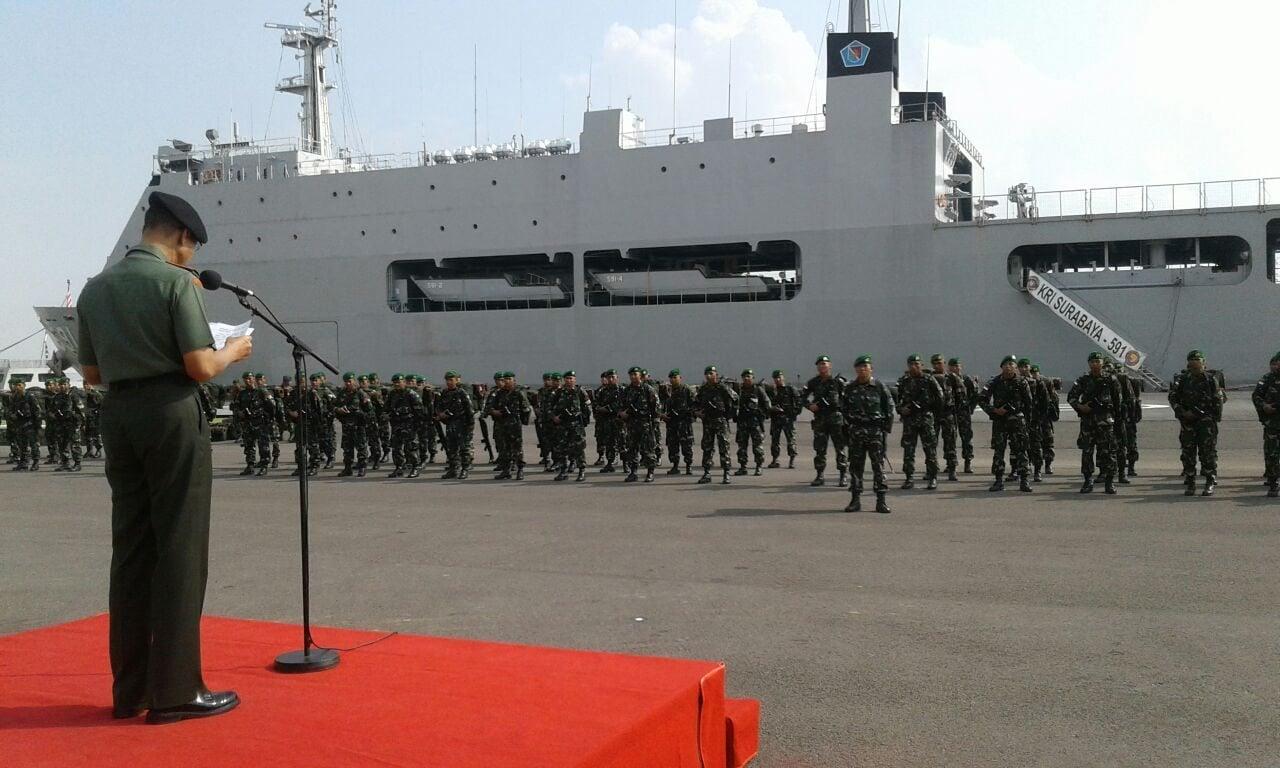 Satgas Batalyon Infanteri Mekanis 516Caraka Yudha Berangkat Tugas operasi (3)