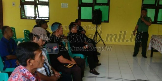 Kodam Jaya Berikan Penyuluhan Rekrutmen TNI Kepada Warga Masyarakat Jatiraden