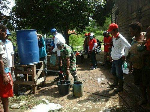 Badan Pemerdayaan Masyarakat Ajak Babinsa Dalam Pelatihan Air Jernih