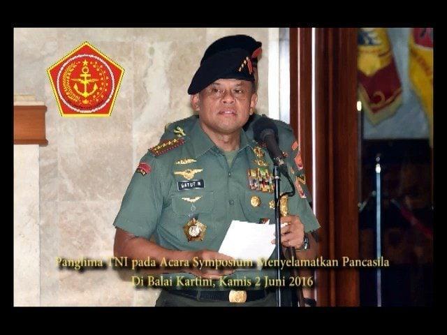 Panglima TNI pada Acara Symposium Menyelamatkan Pancasila