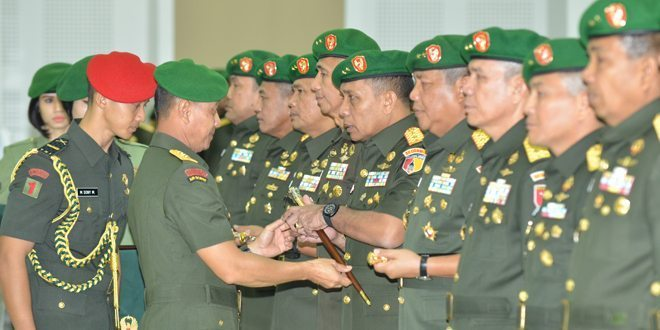 Tujuh Jabatan Penting Jajaran TNI AD Diserahterimakan