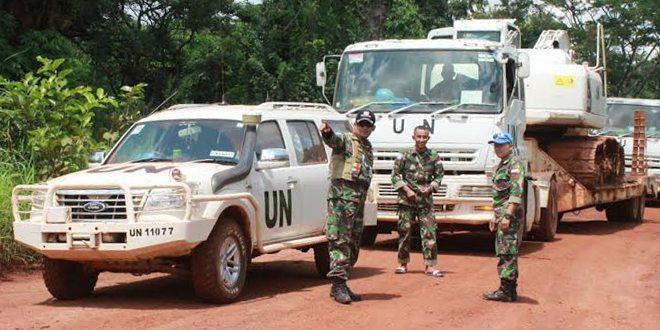 Pasukan Garuda di Afrika Bantu Bangun Camp Batalyon Kongo