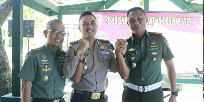 TNI-Polri Meriahkan Pisah Sambut Dandenpom VII/4 Parepare
