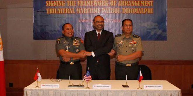 Indonesia, Malaysia dan Filipina Setuju Untuk Mengoprasionalkan Kerjasama Trilateral Untuk Meningkatkan Keamanan Maritime