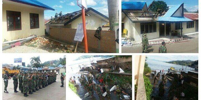 Pra Tmmd Ke 97 Kodim 0207/Simalungun Laksanakan Gotong Royong