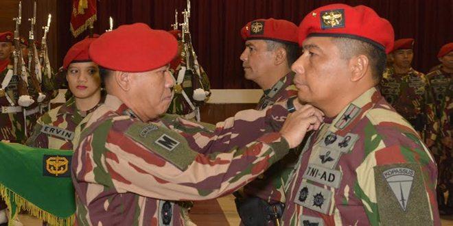 Brigjen TNI Madsuni Resmi Jabat Wadanjen Kopassus