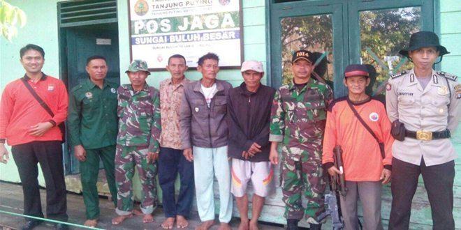 Babinsa Kodim 1014/Pbn Amankan Nelayan Memasuki Taman Nasional Tanjung Puting