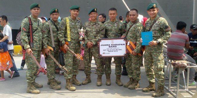 Yonarhanud 1 Kostrad Juara Lomba Band HUT Kolinlamil ke 55 Tahun 2016