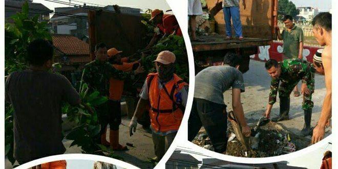 Babinsa Koramil 04/Gambir Jadikan Lingkungan Bersih dan Indah