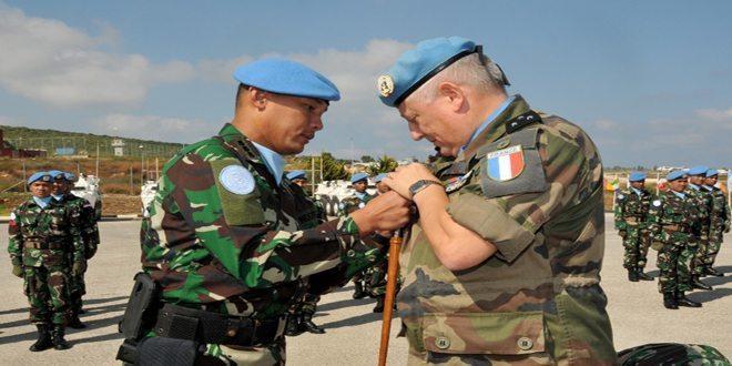 Komandan Konga Unifil 2016 Sematkan Brevet Garuda kepada COS di Lebanon
