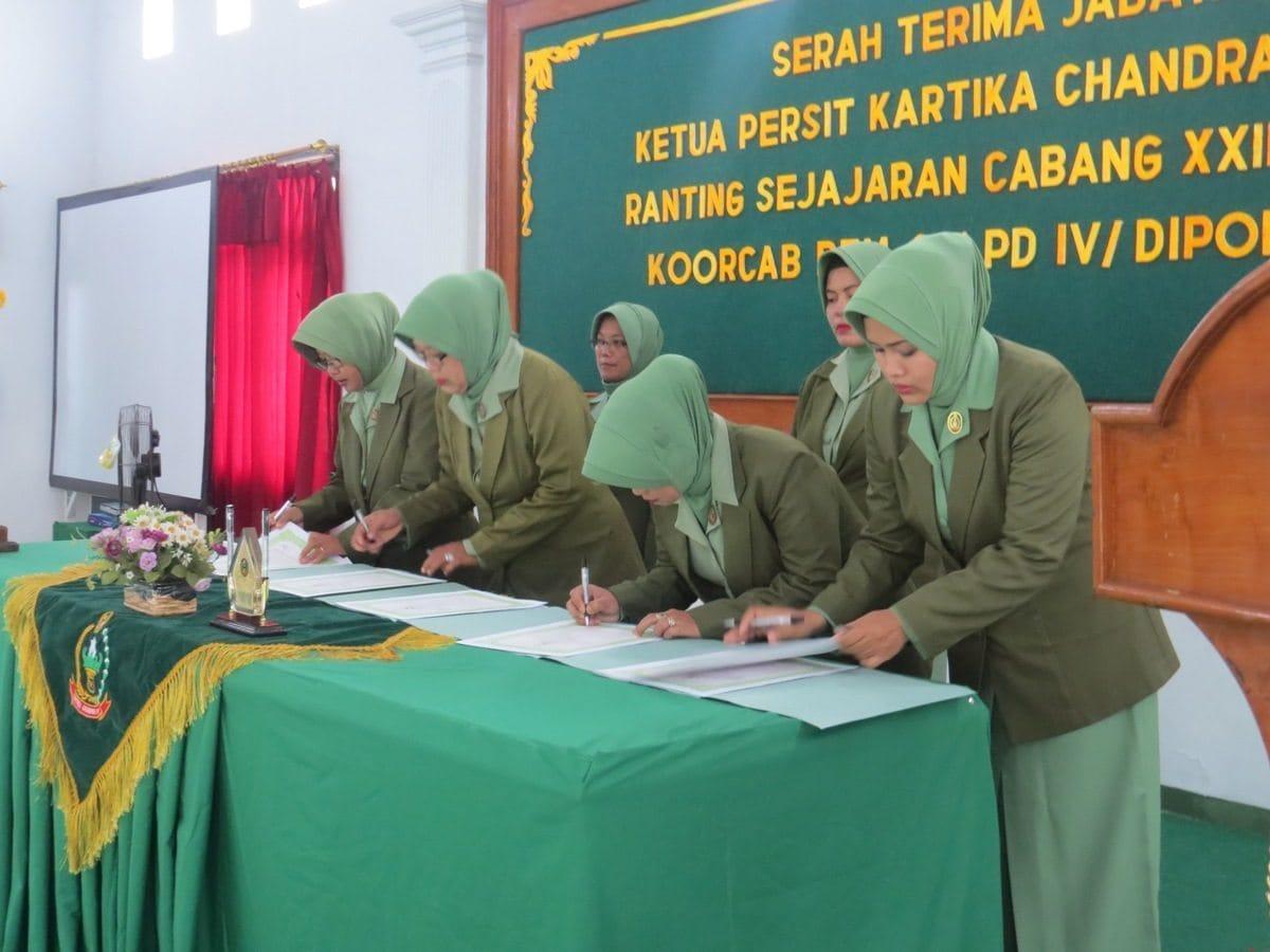 Sertijab Ketua Persit KCK Ranting Di Jajaran Cab XXIII Dim 0713/Brebes Koorcab Rem 071PD IV/Diponegoro