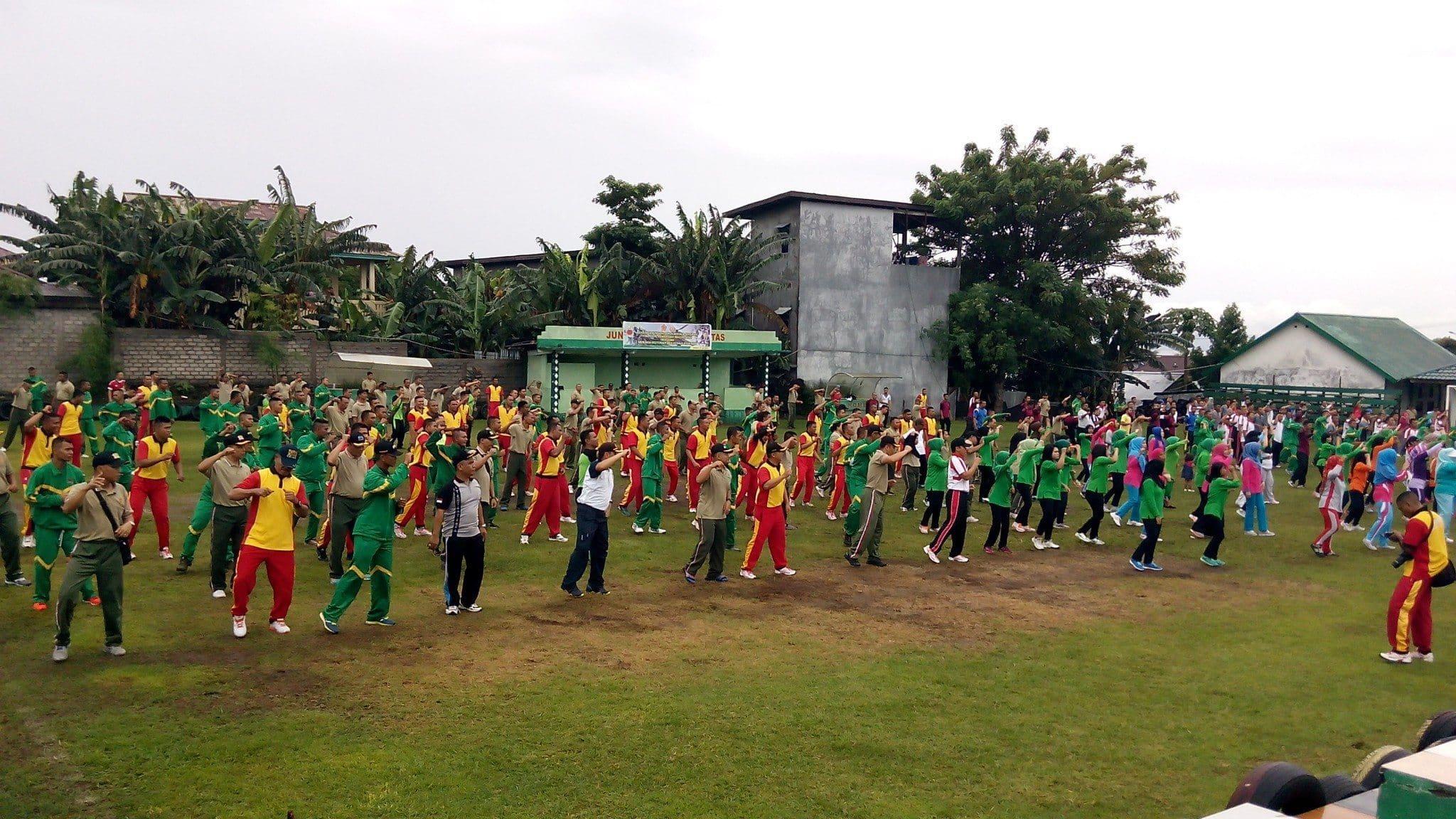 Tingkatkan Soliditas TNI/Polri, Korem 152/Bbl gelar Olahraga bersama