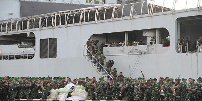Rolling Pasukan Satgas Pamtas RI-PNG Wilayah Keroom