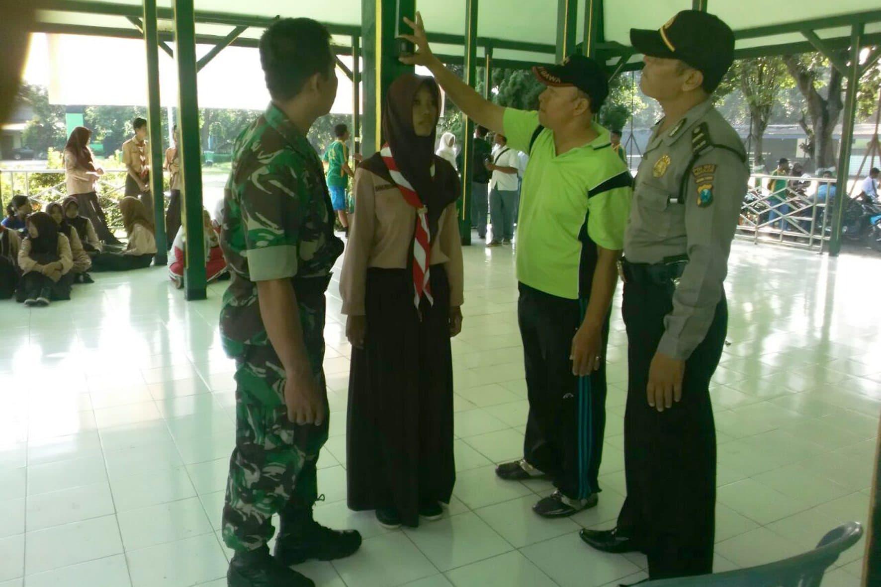 Seleksi Paskibraka Kecamatan Kertosono Nganjuk.