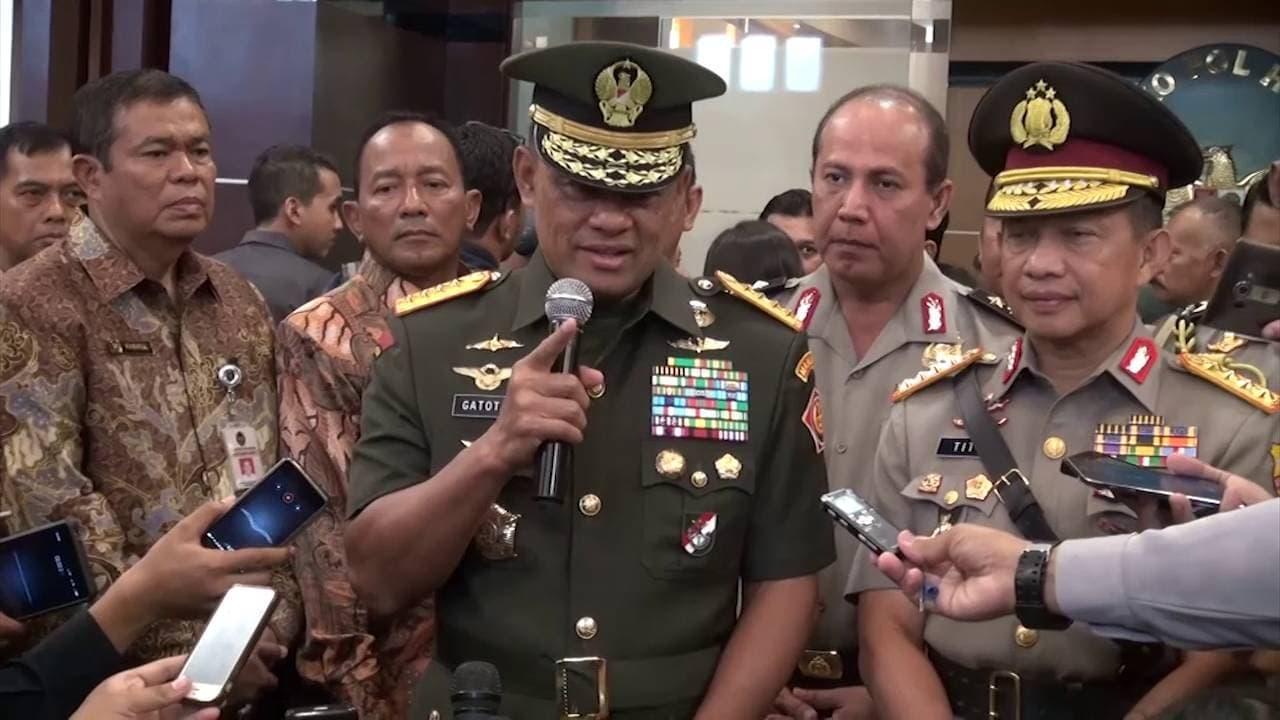 Doorstop Panglima TNI Terkait Gugurnya Prajurit TNI di Poso