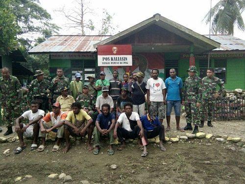 Tatap Muka Dansatgas Pamtas Yonif 122/TS Dengan Warga Kampung Kibay Arso Timur Papua