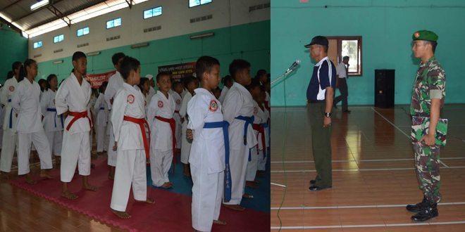 Kejurkab Pelajar Cabor Karate Dibuka Oleh Pasiter Kodim 0716/Demak