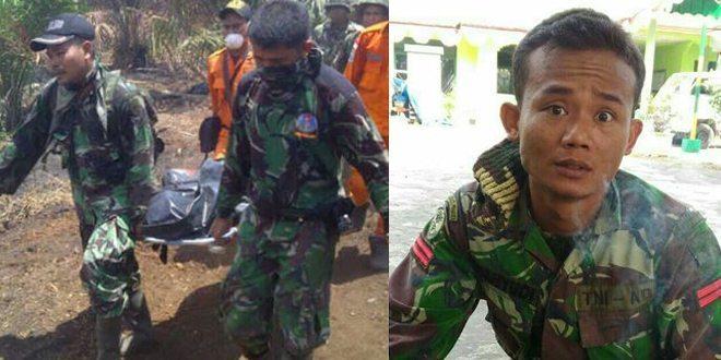 Prajurit TNI AD Ditemukan Tewas Terbakar Saat Padamkan Karhutla