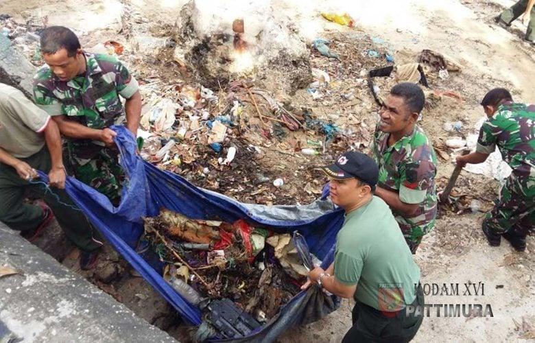 Jumat Bersih, Konsistensi Kodam XVI/PTM menjaga kebersihan