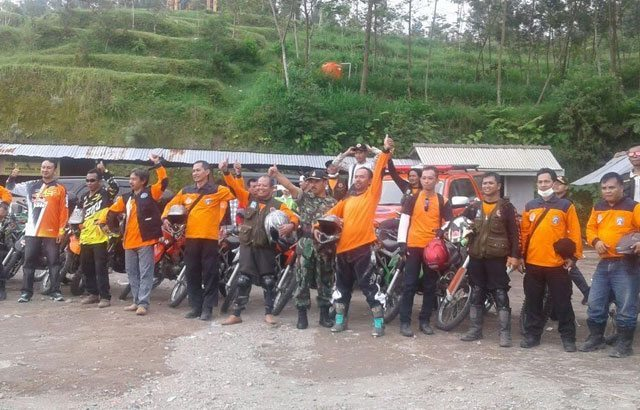 Kebersamaan Sertu Yanto Pramono Dengan Komunitas Trail