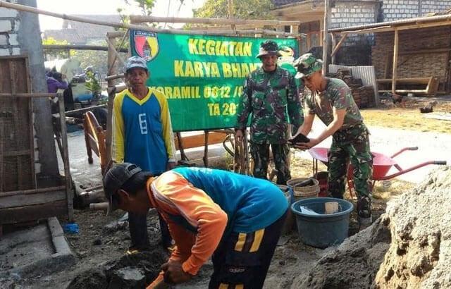 TNI Rehab Lagi Rumah Warga Tidak Layak Huni