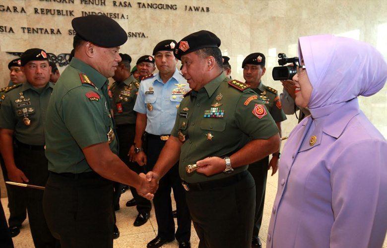Panglima TNI Pimpin Laporan Korps Kenaikan Pangkat 50 Perwira Tinggi