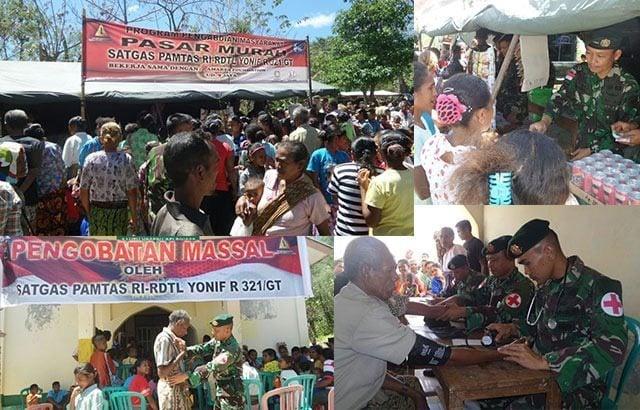 Pengobatan Massal TNI Disambut Antusias Masyarakat Perbatasan