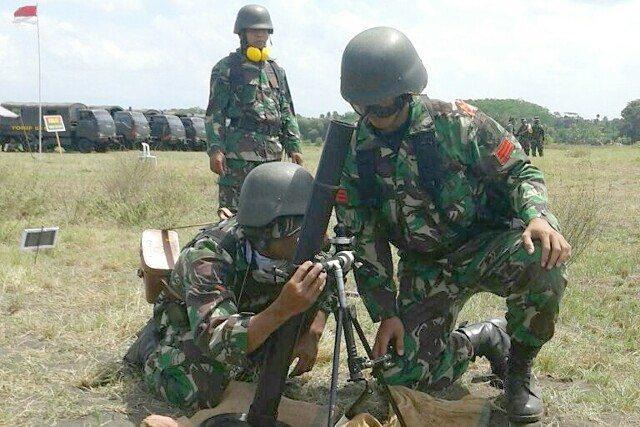 Hindari salah sasaran, Prajurit Permahir Latihan Menembak Mortir