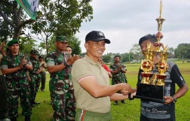 Kodim Lampung Tengah Juara Sepakbola Piala Danrem