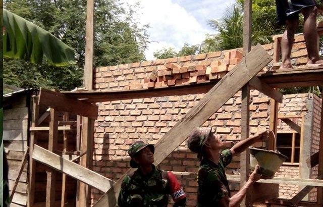 Kodim Bengkalis Rehap Rumah Masyarakat Kurang Mampu