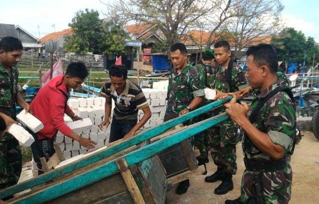 Kodim Bangkalan Bangun Rumah Kiptiyah Veteran RI