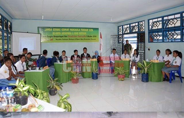 Sekolah di Perbatasan RI-PNG Ikuti Cerdas Cermat Pancasila